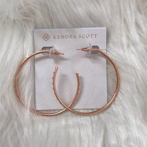 NWT Kendra Scott Val Rose Gold Hoop Earrings